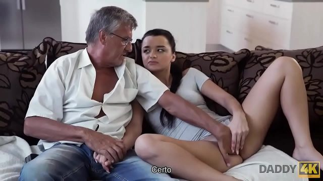 Old man satisfied sexual needs of his Hot daughter